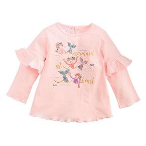 "Mud Pie Kids Girls Winter ""Mermaid at Heart"" Pink Tunic Top Pink"