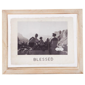 "Mud Pie Home ""Blessed"" Photo Picture Frame Family Kids Holds 4"" x 6"""