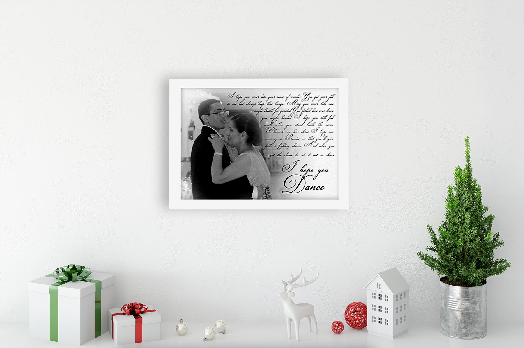 Personalized mother and son photo gift wall decor