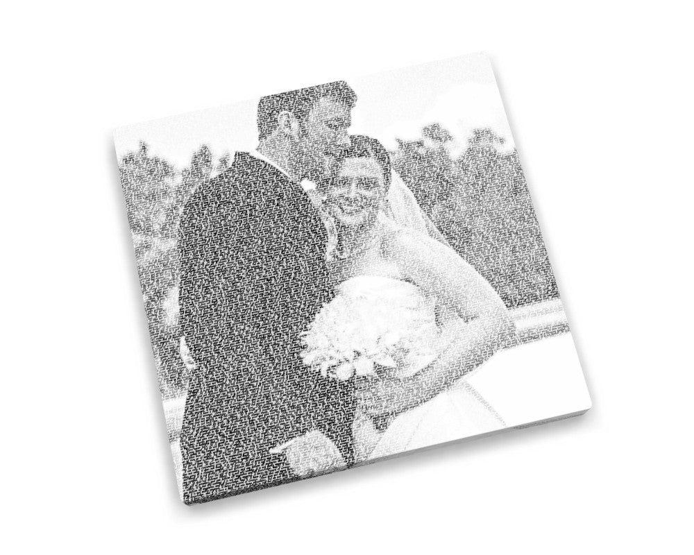 20x20 First Dance Calligram Canvas - Fine art and canvas personalized anniversary and inspirational gifts