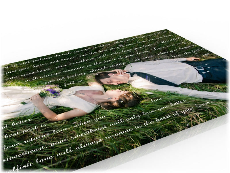 18x24 Wedding Vow Photo Canvas - Fine art and canvas personalized anniversary and inspirational gifts