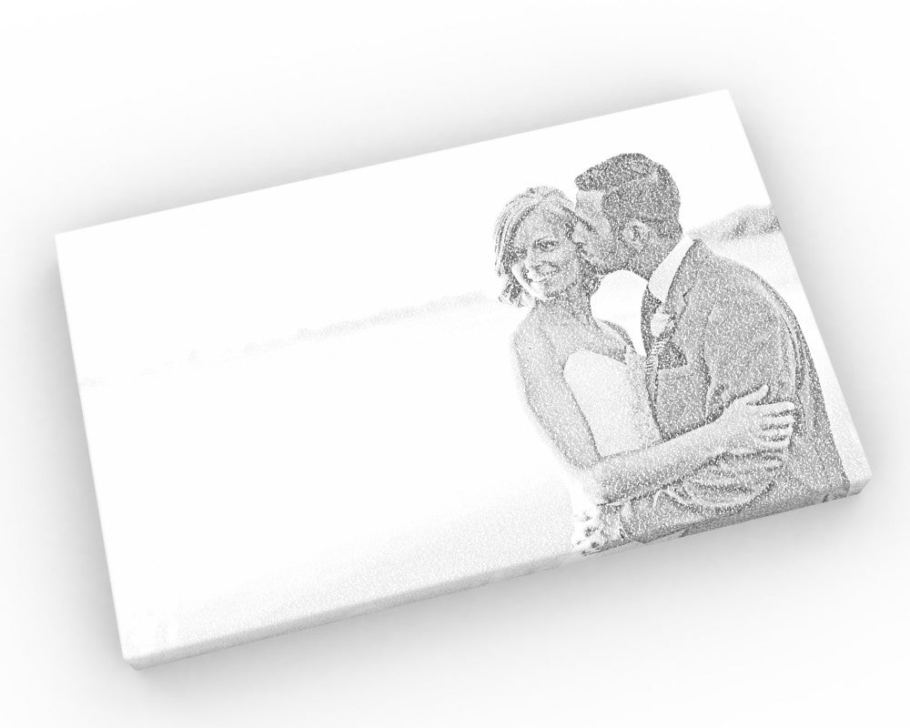 20x30 Wedding Photo Calligram Canvas - Fine art and canvas personalized anniversary and inspirational gifts