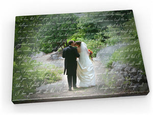 24x36 Words with Photos Canvas - Fine art and canvas personalized anniversary and inspirational gifts
