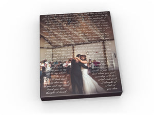 8x12 First Dance Canvas - Fine art and canvas personalized anniversary and inspirational gifts