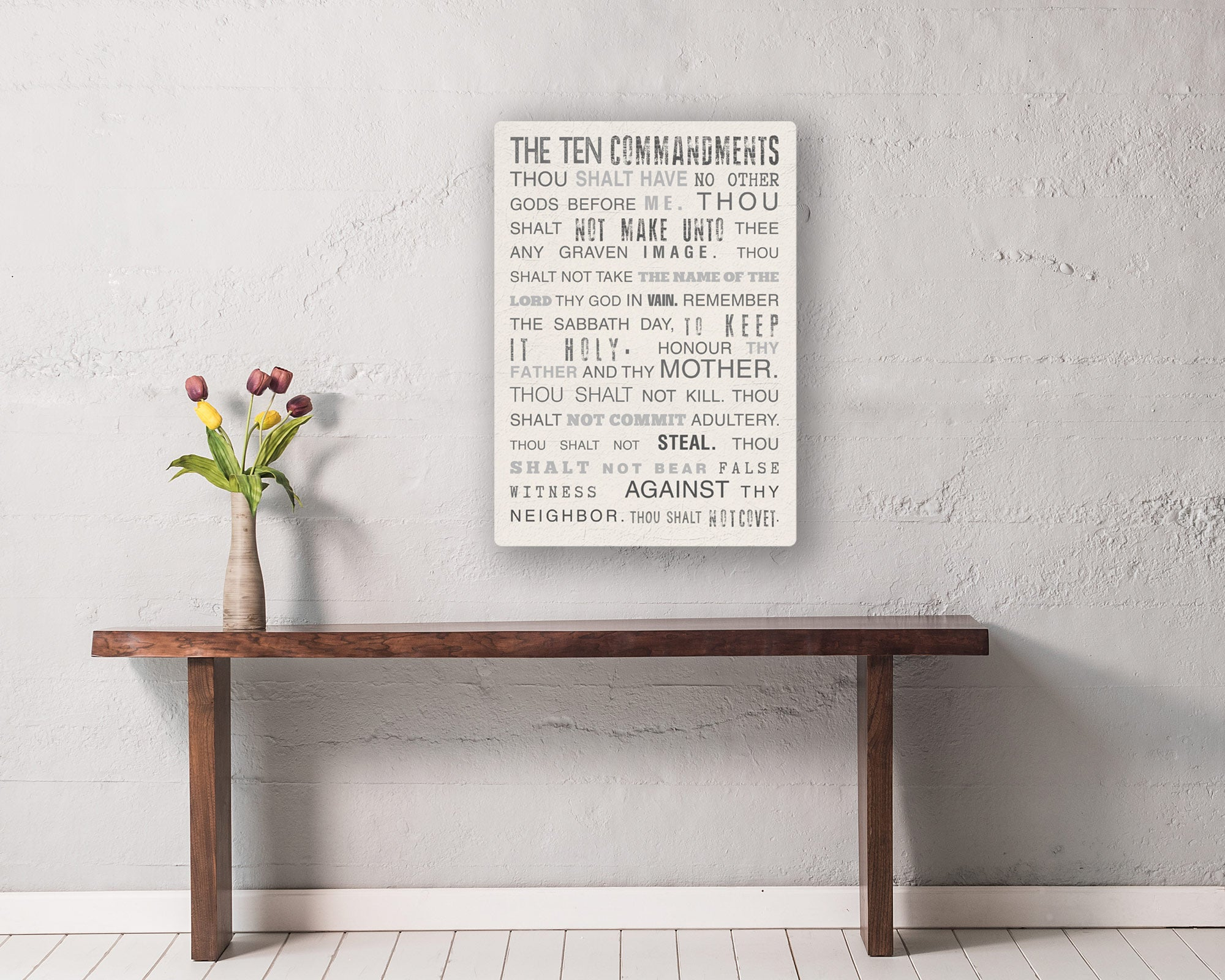 10 Commandments on Canvas - Fine art and canvas personalized anniversary and inspirational gifts