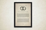 Harry potter wedding or anniversary gift idea. First year paper personalized art prints.