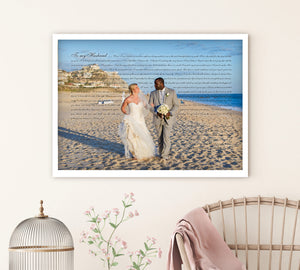 Fine Art Wedding Vow Photo - Fine art and canvas personalized anniversary and inspirational gifts
