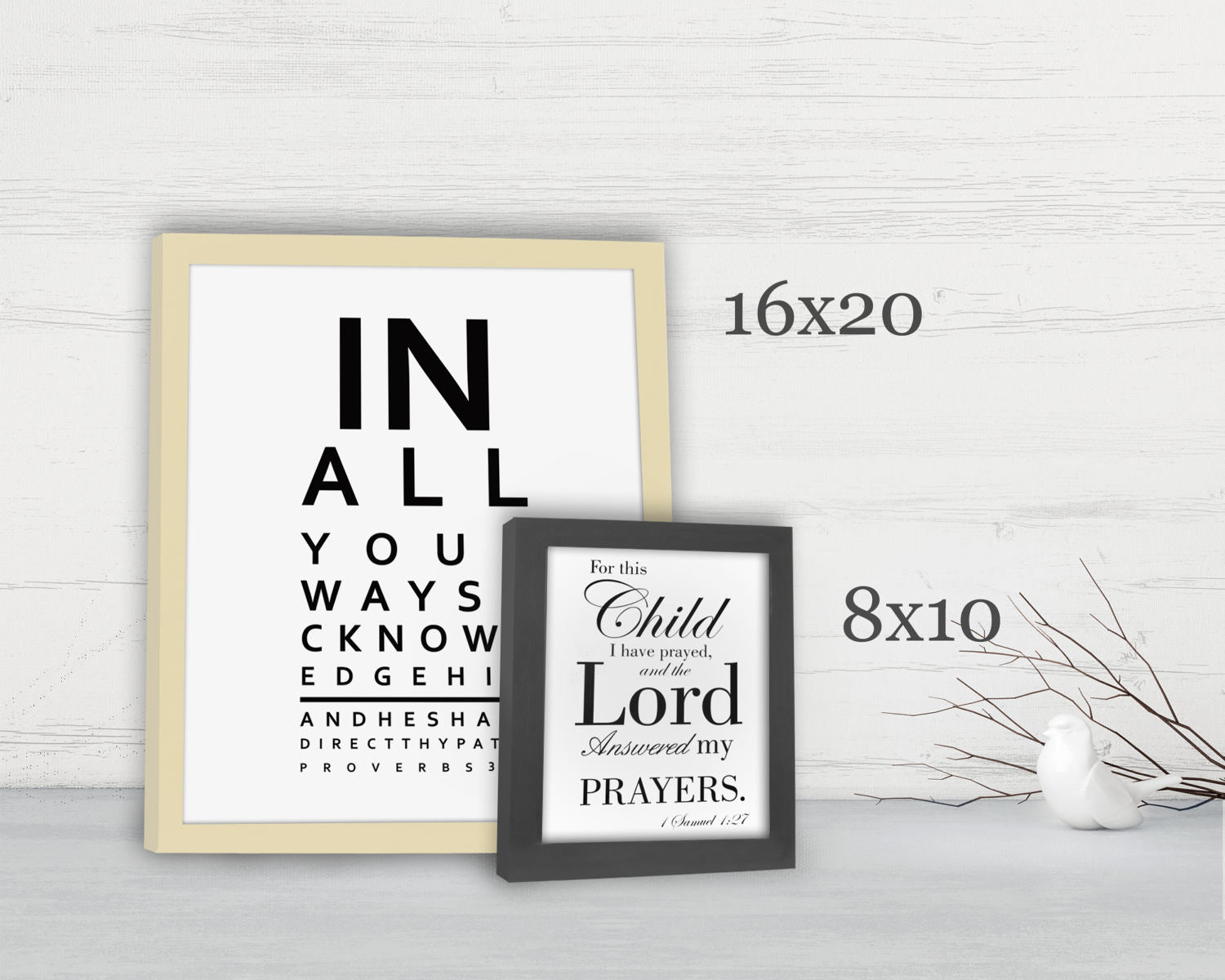 Proverbs 3:6, Framed Scripture Print, Bible Verse Print, Eye Chart, Framed, Christian, In all thy ways acknowledge Him, gift, eye doctor
