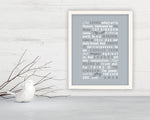 Matthew 6:9-13,  Framed Scripture print, bible verse print, gift, christian decor, prints, scriptures, The Lord's prayer, scripture art