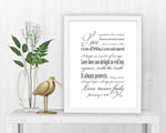 Personalized 1 Corinthians 13 Decor - Fine art and canvas personalized anniversary and inspirational gifts