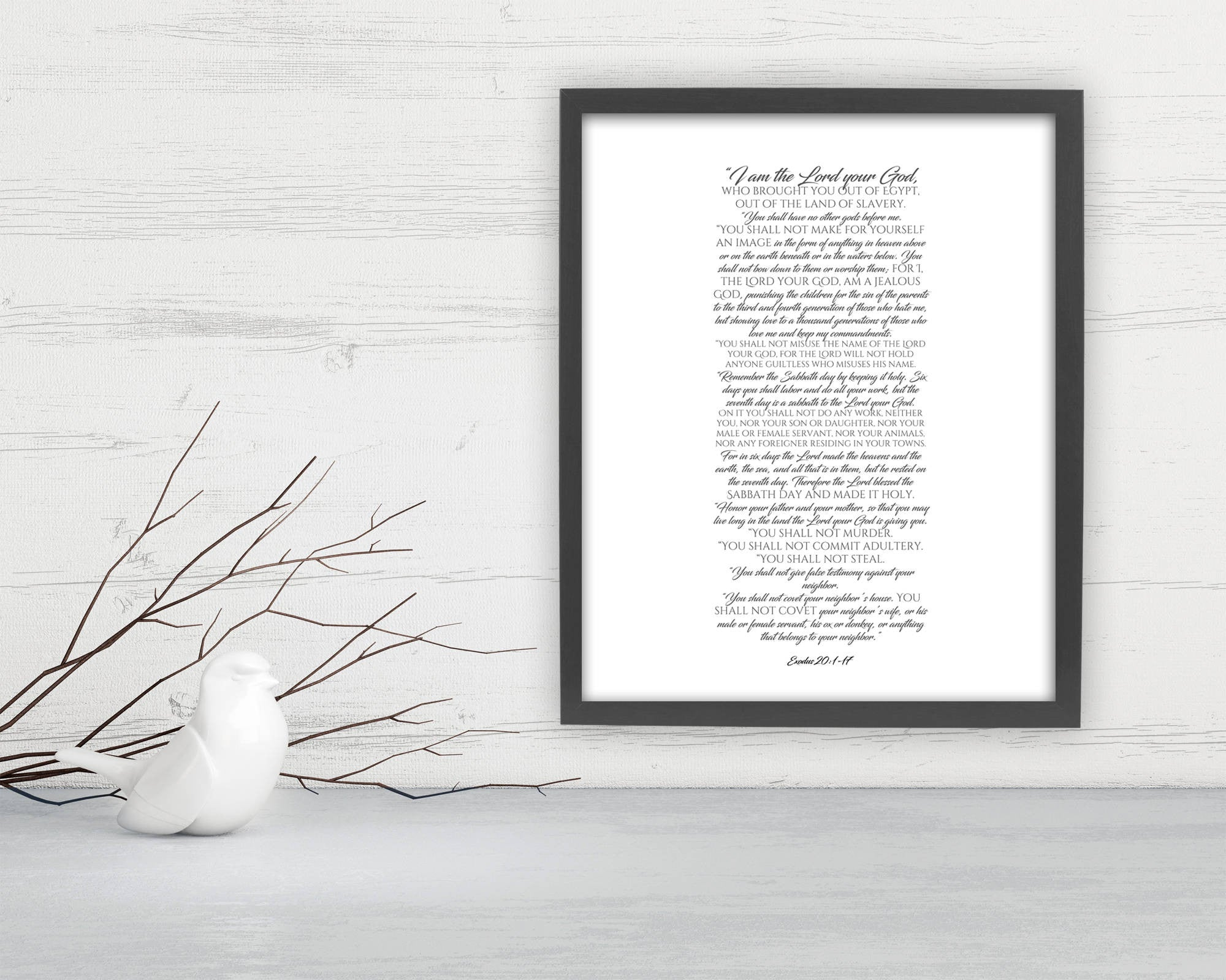 Exodus 20: Modern Scripture Art - Fine art and canvas personalized anniversary and inspirational gifts