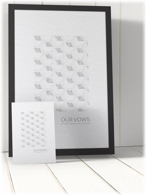 Wedding vow art, Framed, Binary Code, first, dance, lyrics, paper, programmer, anniversary, for, him, husband, valentine's, geek, 1st
