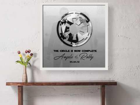 First Anniversary, gift, sci-fi, husband, wedding vow photo, Print, star wars inspired, Personalized, Wedding Vow art, paper, Empire