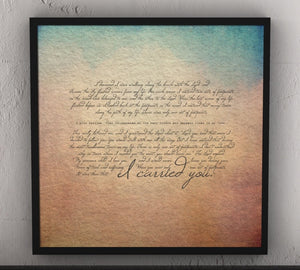 Footprints in the sand, Framed, footprints poem, ocean theme, gift, decor, christian, wall art, print, framed gifts, beach, decor