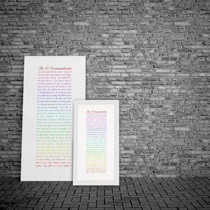 Ten Commandments sign, 10 Commandments, On Canvas, Framed, Scripture Art, Christmas Gift, Pastor, Teacher, Bible verse, art, Sunday School,