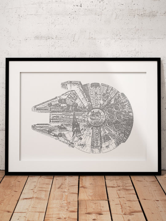 Millennium Falcon Word Art