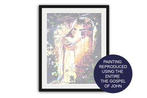 Scripture art, Bible Verse art, The Gospel of John, Jesus, Knock, Decor, Gift, Faith, Jesus Painting, Picture, pastor gifts, framed print
