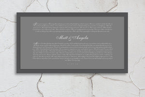 Wedding Vows Canvas, Wedding Vows Framed, Wedding Vows gift, Wall Art, Anniversary Gifts, For husband, for men, gift, for wife, first, paper