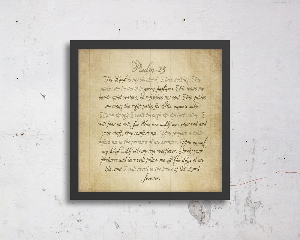 Psalm 23, Or your verse, Bible verse, Scripture, print, Scriptures on canvas, Framed scripture, gift, gifts, Christmas, for, brother, sister