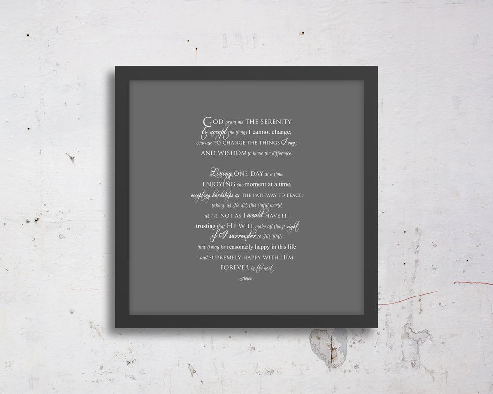 Serenity Prayer, customize, Inspirational, print, Scriptures on canvas, Framed, scripture, gift, gifts, Christmas, for, brother, friend, son