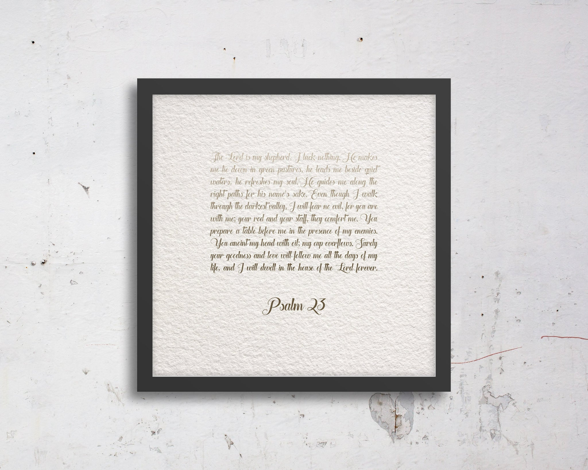 Psalm 23, Fine Art, custom, Bible verse, Scripture, prints, Scriptures on canvas, Framed scripture, wall decor, gift, gifts, Christmas, mom