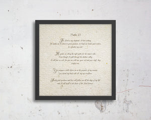 Psalm 23, custom, Bible verse, Scripture, prints, Scriptures on canvas, Framed scripture, wall decor, gift, gifts, Christmas, for mom