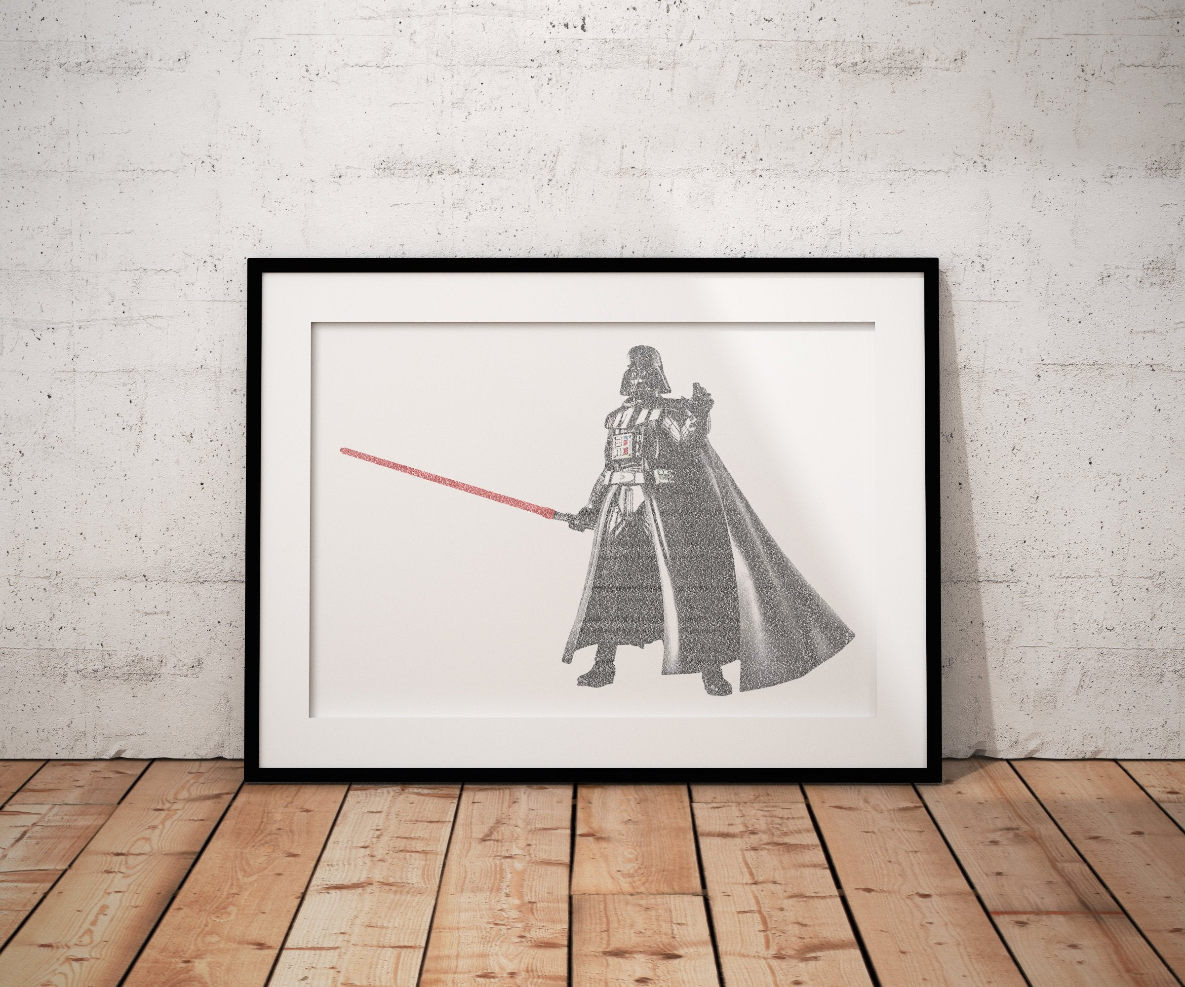 Darth Vader, Wedding vow art, Star Wars, inspired, 1st Anniversary, Custom, Print, Calligram, Words, gift, for him, husband, framed, paper