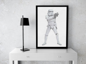 TK421, Stormtrooper, Wedding vows, Star Wars, inspired, 1st Anniversary, Custom, Print, Calligram, Words, gift, for, husband, framed, paper