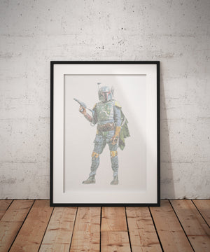 Wedding vows, art, Boba Fett, 1st, Anniversary,  Star Wars, Inspired,  for men, Print, Calligram, Word Art, him, gift, husband, first, paper