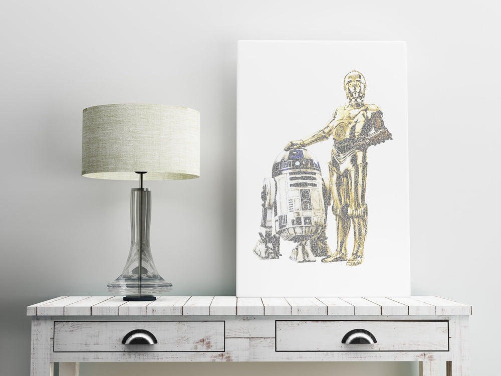 R2D2, C3PO, Wedding vows, art, 1st, Anniversary, Star Wars, Inspired,  for men, Print, Calligram, Word Art, him, gift, husband, first, paper