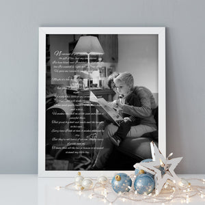Gift for Mother in Law, Personalized, Mother and son, Words on photo, Quotes, Gift for mom, Personalize, Birthday, From Son, from kids,Print