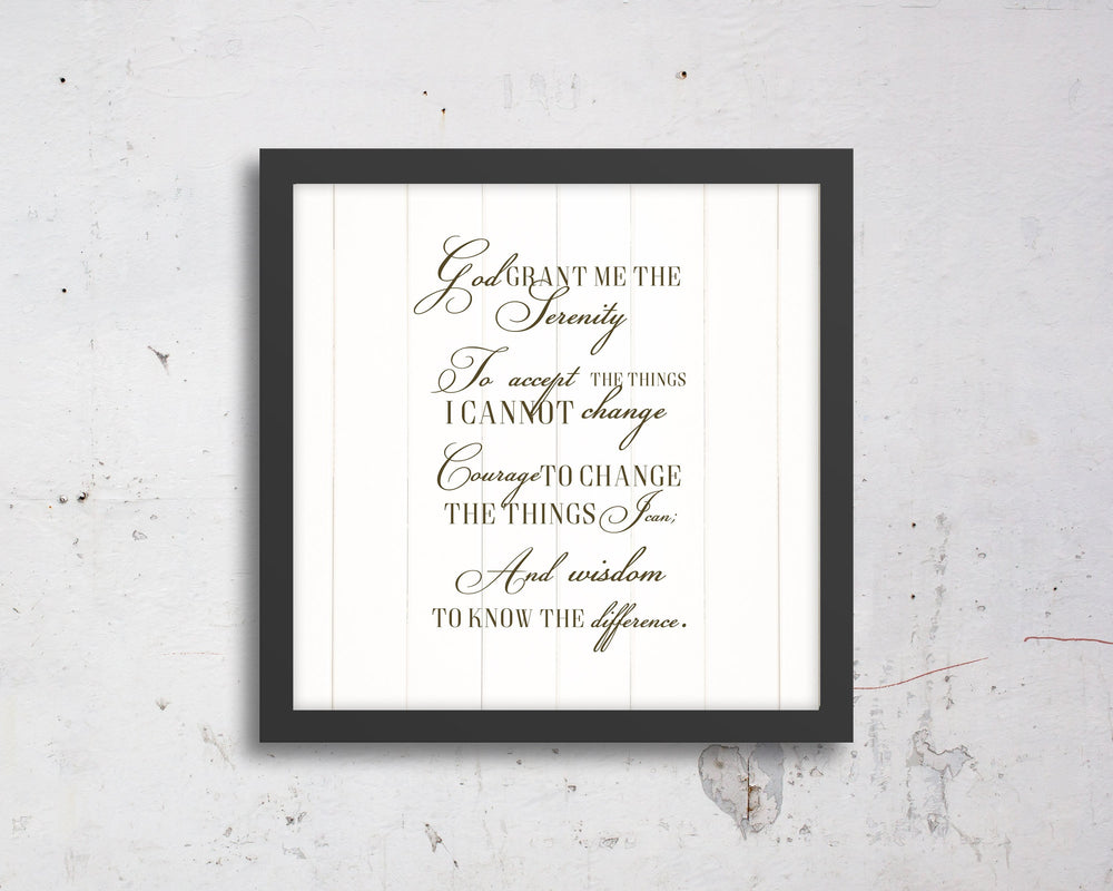 Serenity Prayer, Canvas, Wall, decor, Recovery, print, Scriptures on canvas, Framed, scripture, gift, gifts, Christmas, for, brother, friend