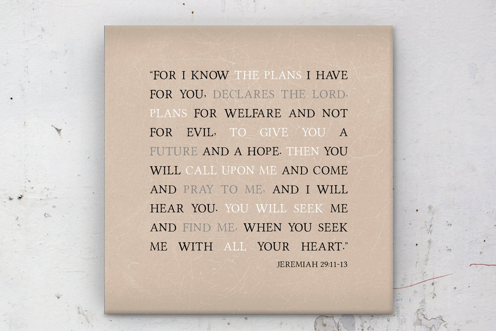 Jeremiah 29 11, I know the plans, scripture, customize, Scriptures on canvas, Framed, wall, gift, gifts, decor, Christmas, bible verse, art
