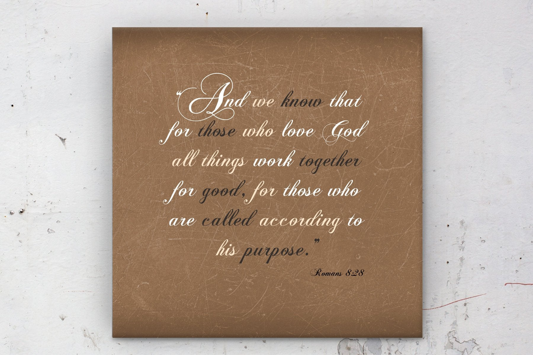 Romans 8 28, custom, Scriptures on canvas, Framed scripture, Bible, verse, Scripture, prints, wall decor, gift, gifts, Christmas, mom, Dad