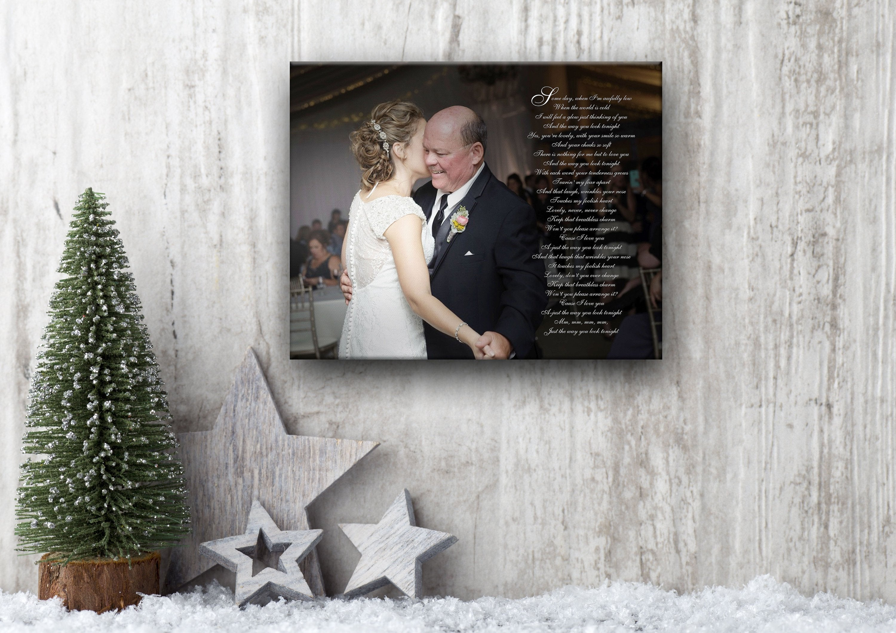 Personalized Father Daughter Photo Canvas – Honeycomb Proverbs