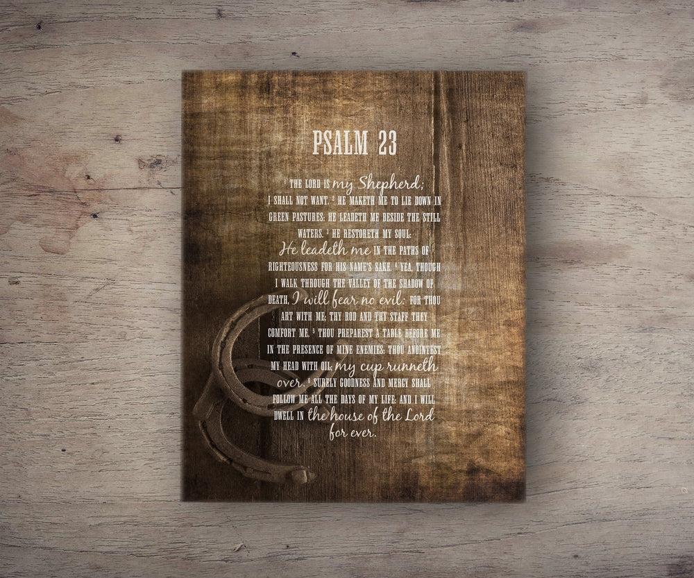 Psalm 23 Canvas, Christian Farmhouse Art, Scripture art, Christian decor, The Lord Is My Shepherd, Christian Wood Art, Bible Verse on Canvas