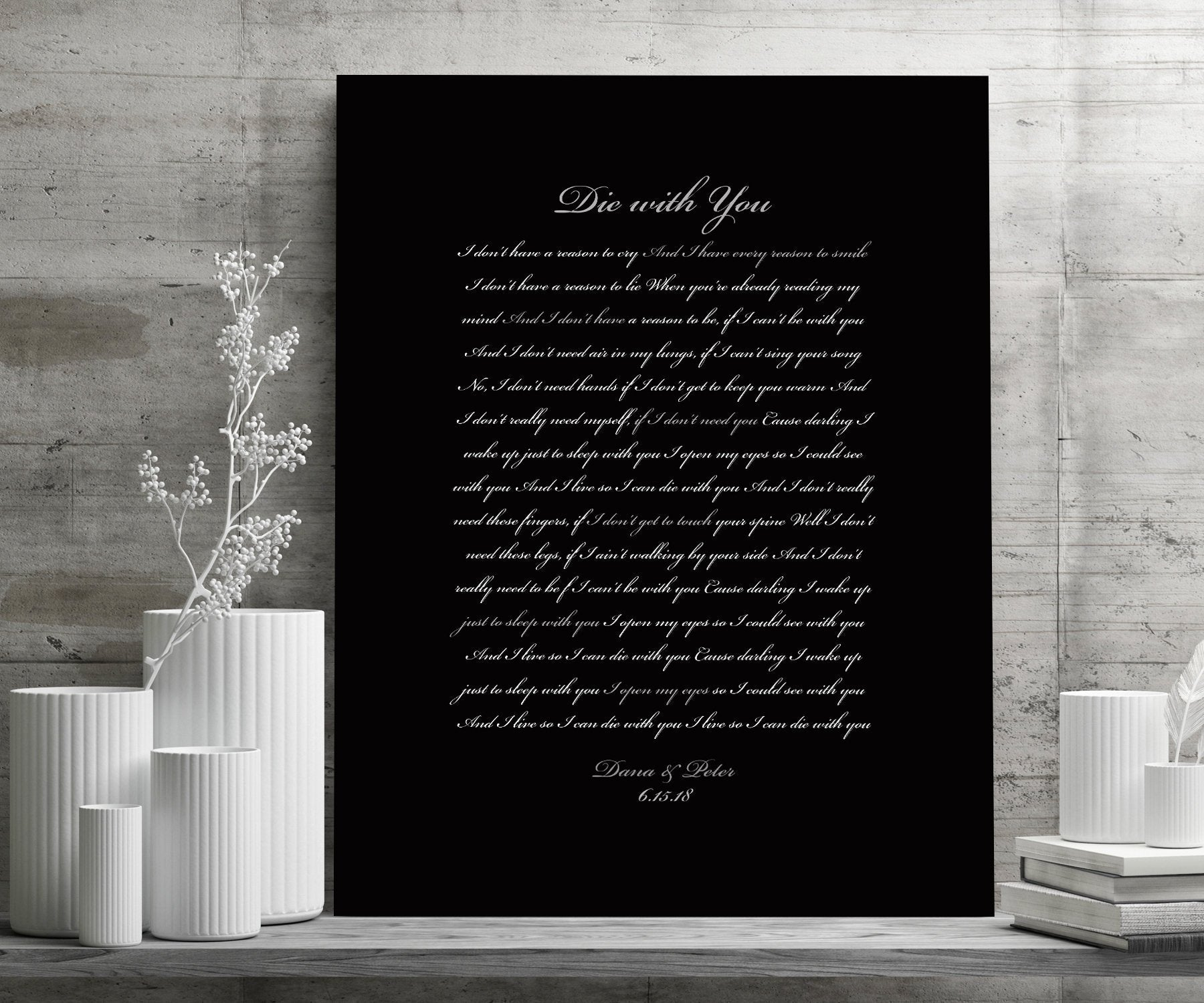 Canvas Song Print, Custom Bedroom Decor, Wife anniversary gift, Romantic Bedroom Wall decor, His and Her Personalize, Wedding Date Print