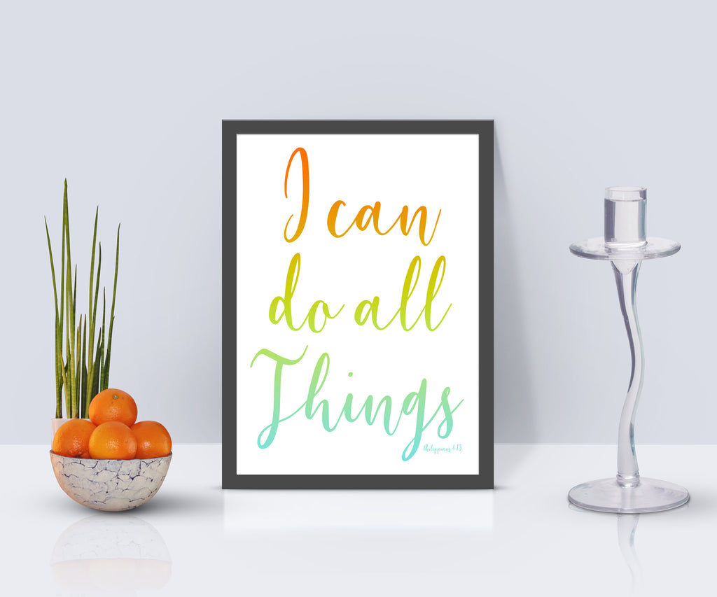 Philippians 4 13 I Can Do All Things Inspirational Poster