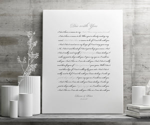 First Dance Custom Canvas, Personal Quote, modern, FairyTale Wedding Gift, anniversary gift, Romantic Bedroom decor, Sister Wedding Gift