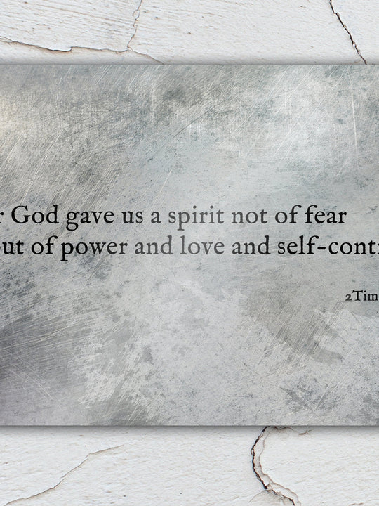 2 Timothy 1:7, Metal Christian Art