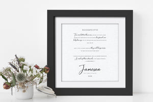 Ecclesiastes 4:9-12, Framed Wedding Date, Cord of 3 Strands, Personalized Wedding Gift, Linen, Gift for Bride and Groom, 4th Year Linen Gift