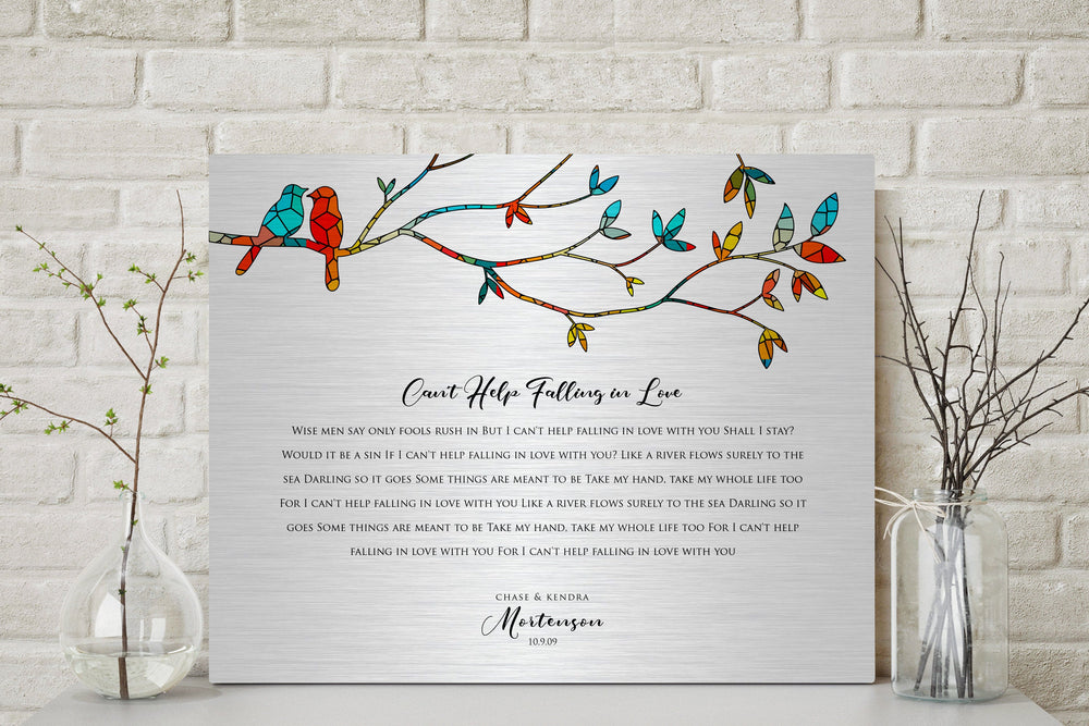 Wedding Song Print, Personalized Wedding Gift, Our Song Print ,Tin Anniversary Gift, Custom Gift for her, 1st Dance, Romantic Gift for Wife