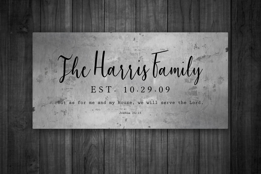 Christian Wedding Gift, Family Name Sign, As for Me and My House, Rustic Wedding Gift, Custom Name Sign, Gift for Couple, Wedding Gift