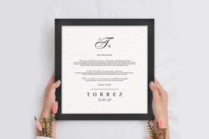 Framed Wedding Reading, Personalized Wedding Gift, Christian Wedding Gift, Genisis 2:24-28, Bone of My Bone, Gift for Bride