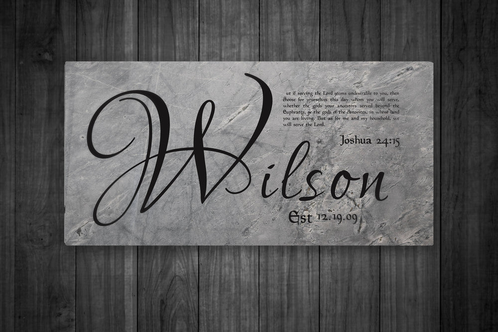 Personalized Family Name Sign, Wedding Gift with Scripture, Christian Wedding Gift, Joshua 24:15, Last Name Sign, As for me and my house