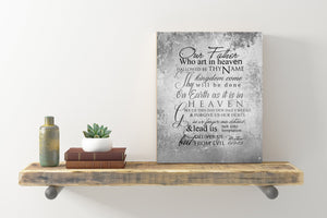 The Lords Prayer Sign, Sympathy Gift, Tin Gift for Wife, Our Father who art in Heaven, Metal Scripture sign, Christian Wall Decor, Tin Gift