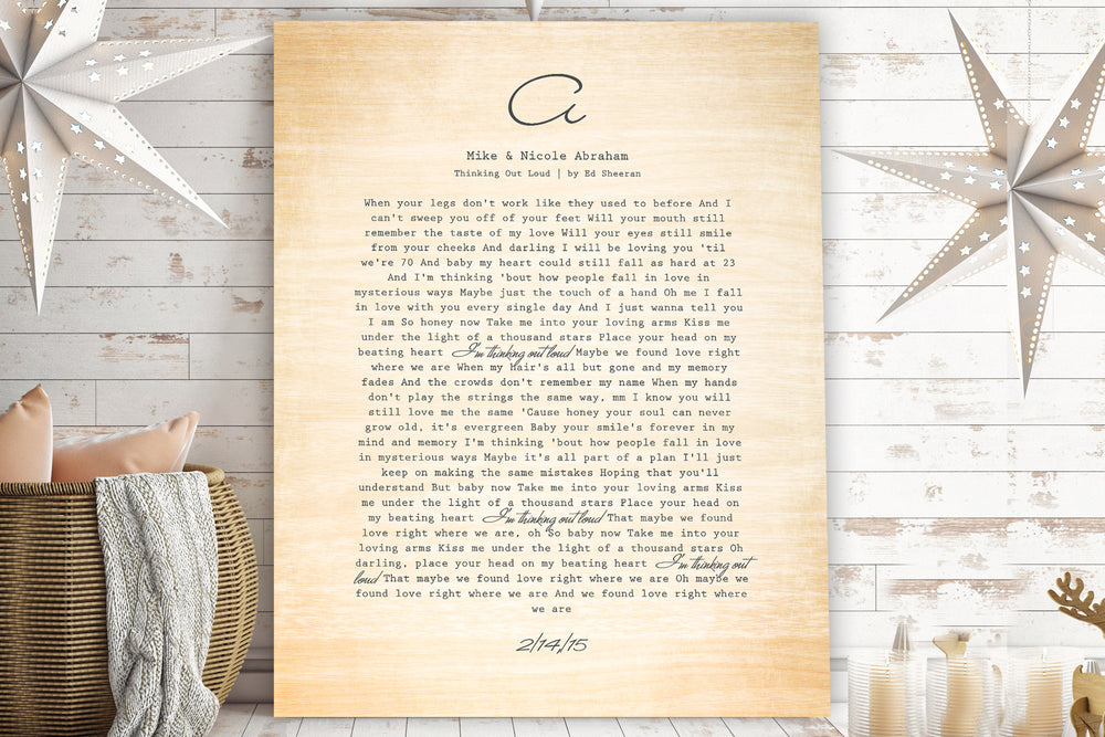 5 Year Anniversary Gift for Wife, Wedding Song on Wood, 5 Year Wedding Anniversary Gift, Wood gift for him,Wood Gift, 5th anniversary gift
