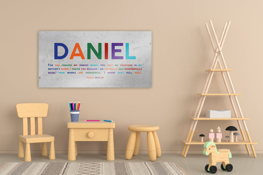 Child Name Sign, Psalm 139:13 for kids, Custom Nursery Wall Art, Playroom Art, Kid's Name Sign, Personalized Bible Verse for Kids, New baby