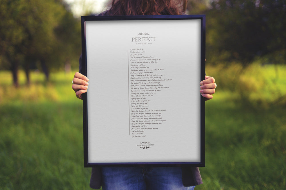 Cotton Anniversary Gift, Our Song on Cotton, Cotton Gift for Wife, Our Song Framed, Cotton Gift for 2 Year Anniversary, Custom Cotton Gift