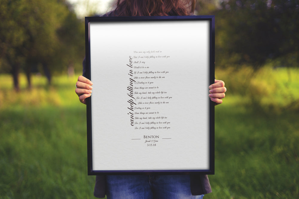 Cotton Gift for Wife, Our Song on Cotton, Anniversary Gift for Wife, Our Song Framed, Cotton Gift, 2nd Anniversary, Custom Cotton Gift